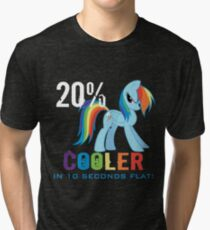 20% cooler in 10 seconds flat! Ladies Tri-blend T-Shirt