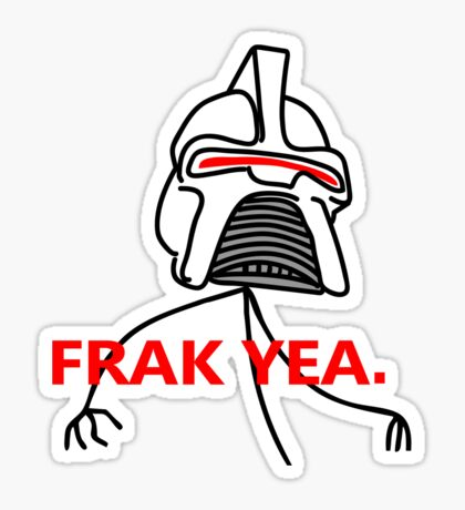 FRAK YEA. Sticker