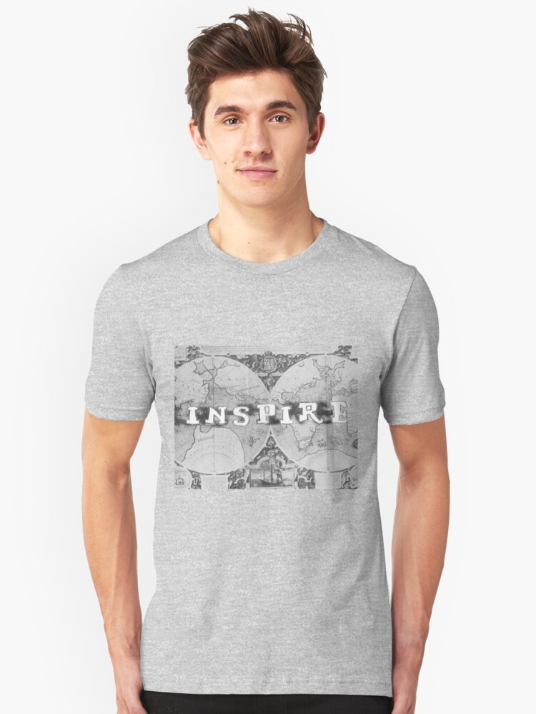 Inspire Old Map series Unisex T-Shirt Front