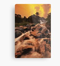 Gem Lakes Cascade Sunset Metal Print