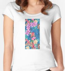 Orchid Splash Women's Fitted Scoop T-Shirt