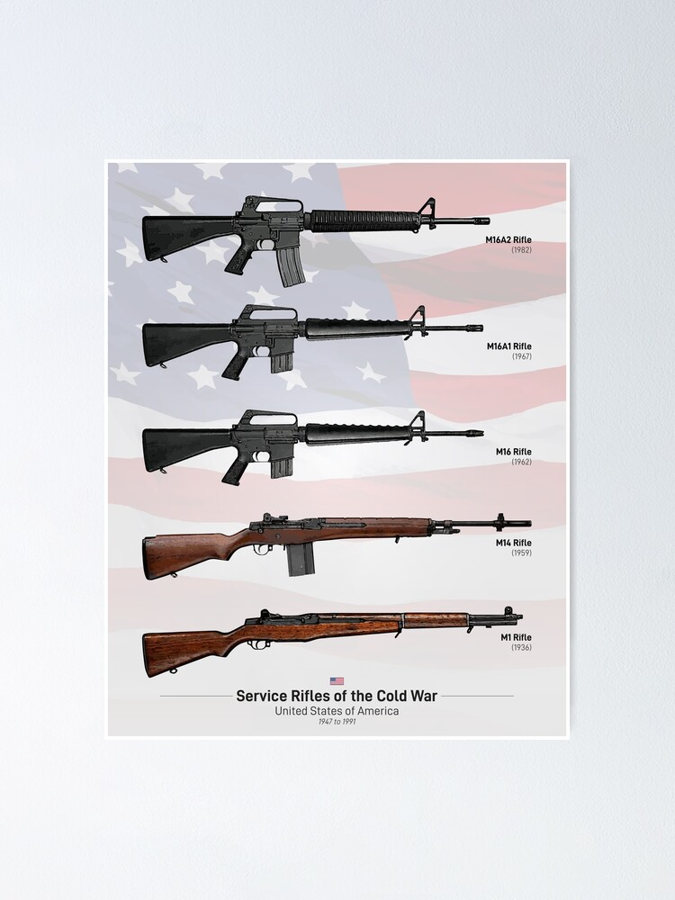Alternate view of Cold War Service Rifles of the United States Poster