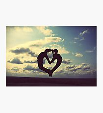 hands on our hearts, hearts in our sky Photographic Print