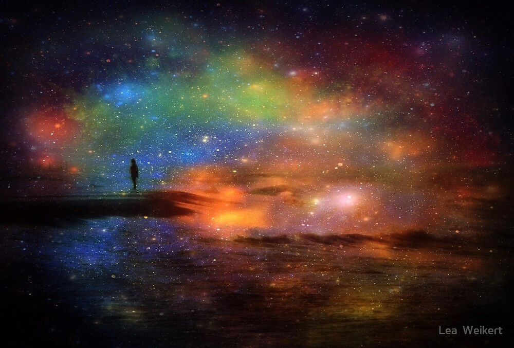 On the Edge of Time and Space by Lea  Weikert