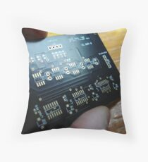 4 Channel touch switch Throw Pillow