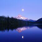 Moon Rise Over Mt. Hood by Jennifer Hulbert-Hortman