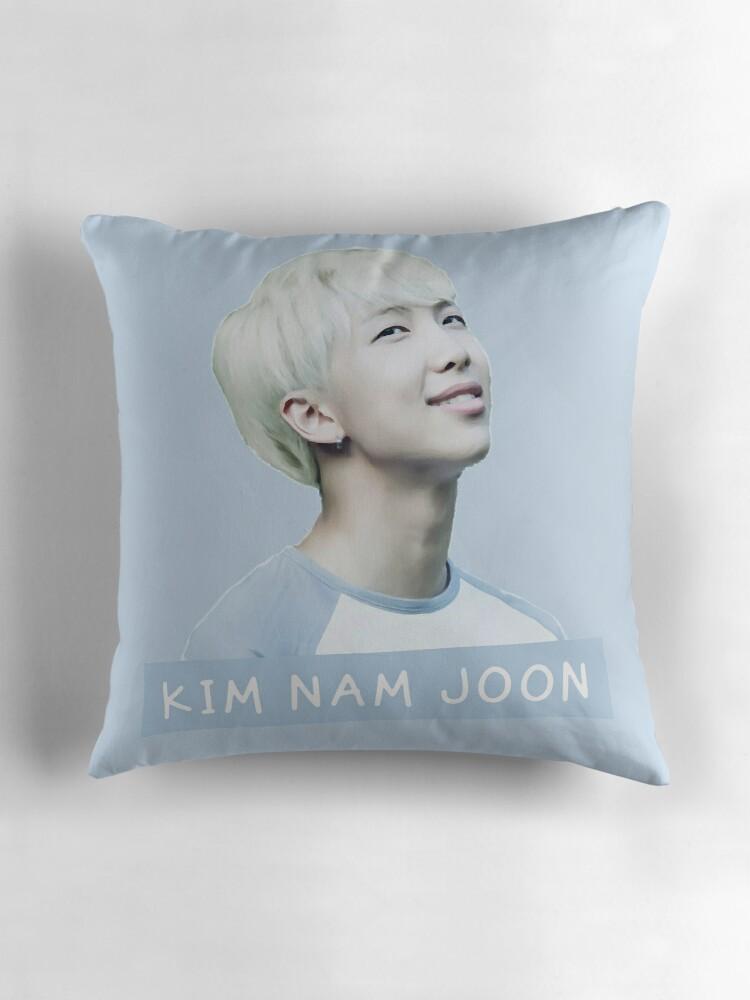 Quot Kim Nam Joon Quot Throw Pillows By Kpoploser Redbubble