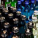 Blue & Green Bottles by Lauren Neely