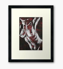 Crimson Red - Nudes Gallery Framed Print