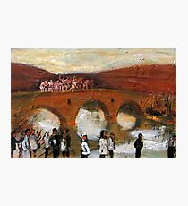 Jump - in the icy river for the cross figurative painting Photographic Print