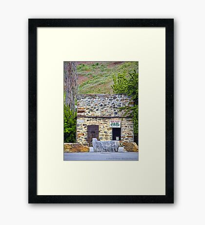 Horse Plains Jail Framed Print