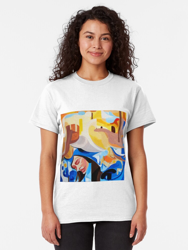 Alternate view of Composition Painting Castle Introspection Classic T-Shirt