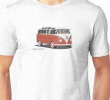 VW Bus T2 Samba Red Blk Unisex T-Shirt