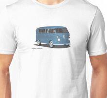 VW Bus T2 Transporter Blue Blk Unisex T-Shirt