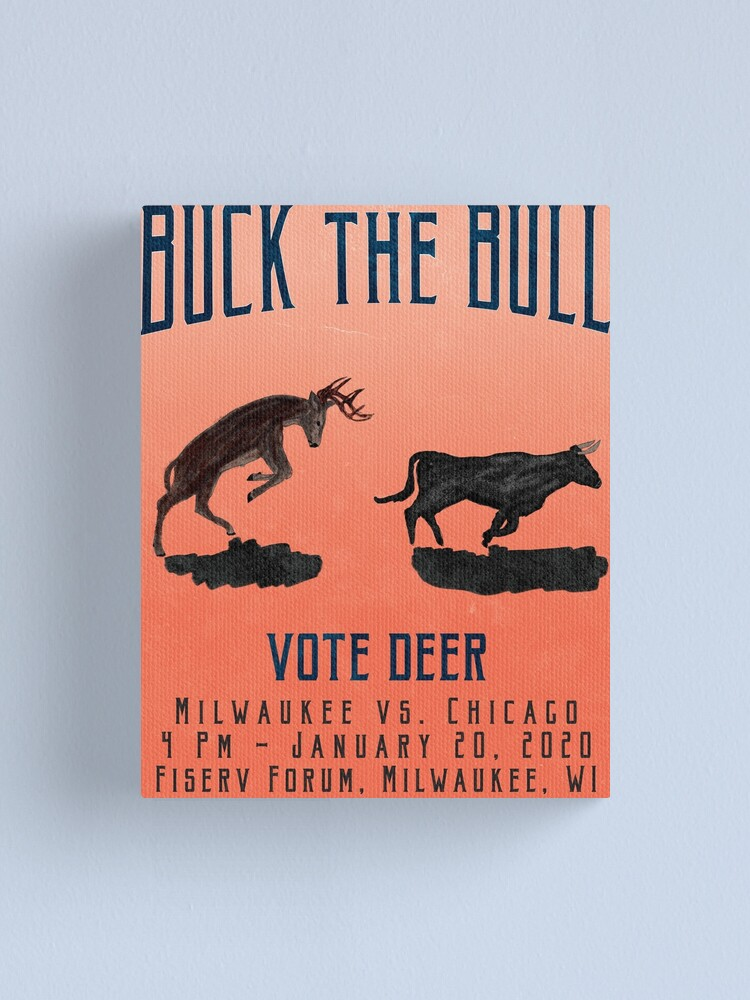 Alternate view of Buck the Bull Canvas Print