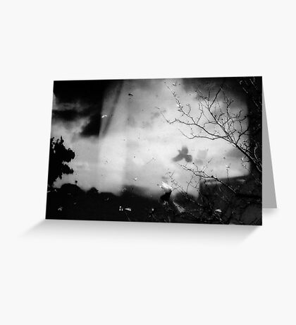 shadows that fall in the dark Greeting Card