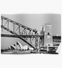Sydney Opera House & Harbour Bridge at dusk Poster