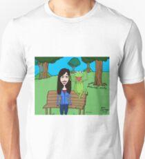 Krista Allen & Kermit the frog - tribute cartoon / comic art Unisex T-Shirt