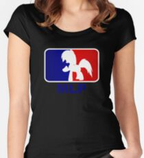 Major League Pony (MLP) - Rainbow Dash Women's Fitted Scoop T-Shirt