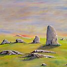 Standing Stones at Sunset by Linda Ridpath