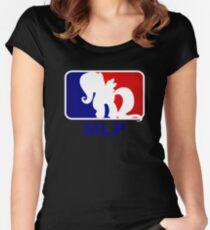 Major League Pony (MLP) - Fluttershy Women's Fitted Scoop T-Shirt