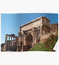 ARCH OF SEPTIMIUS SEVERUS, Rome, Forum Poster