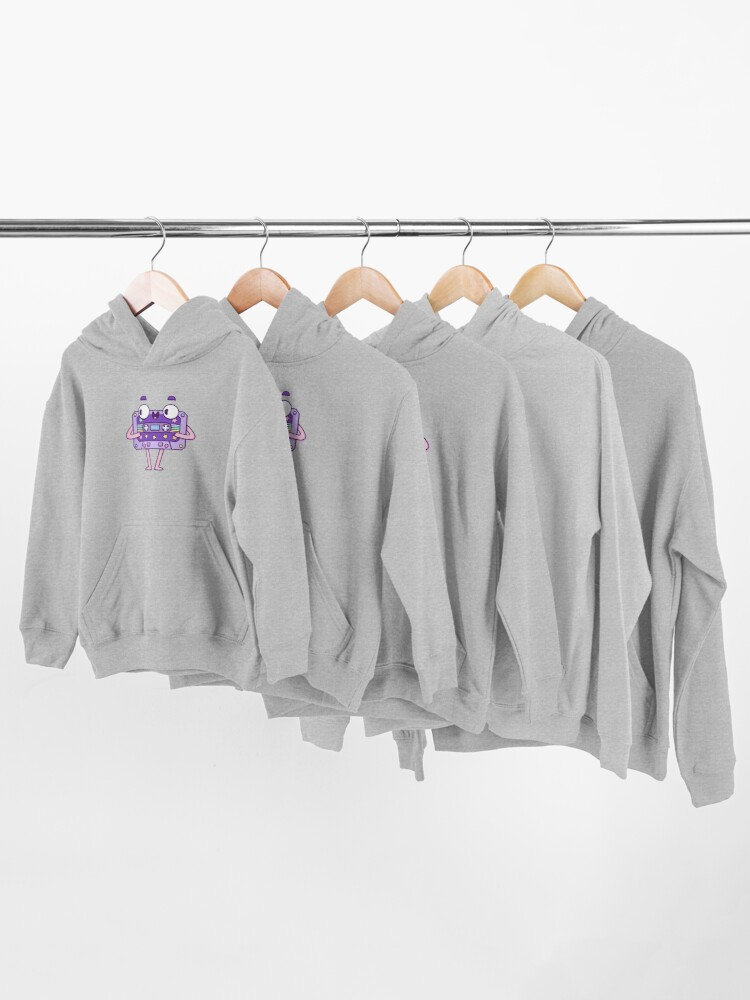 Alternate view of Cute Music Casette Kids Pullover Hoodie