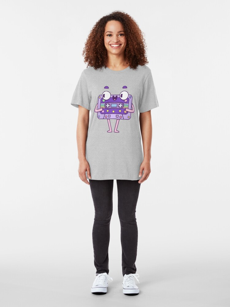 Alternate view of Cute Music Casette Slim Fit T-Shirt