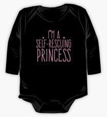 I'm a self-rescuing princess Kids Clothes