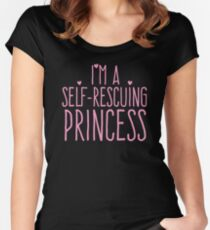 I'm a self-rescuing princess Women's Fitted Scoop T-Shirt