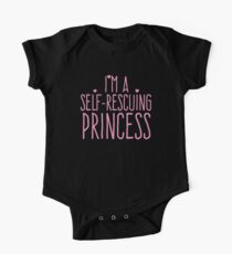 I'm a self-rescuing princess Kids Clothes