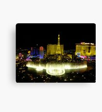 View from Bellagio, Las Vegas Canvas Print