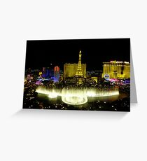 View from Bellagio, Las Vegas Greeting Card