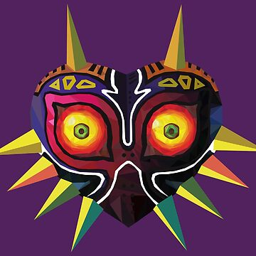 Low Poly Majora's Mask by Vaulter