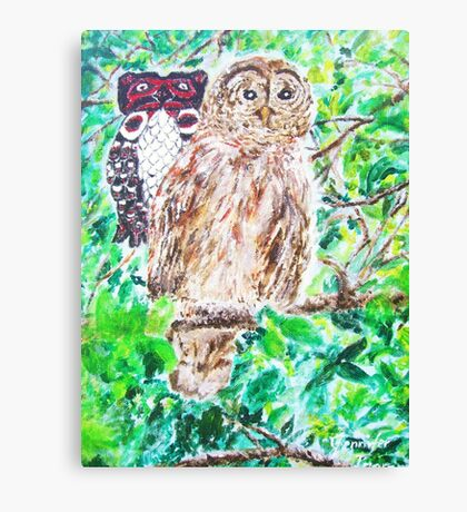 Spirit of the Barred Owl Canvas Print