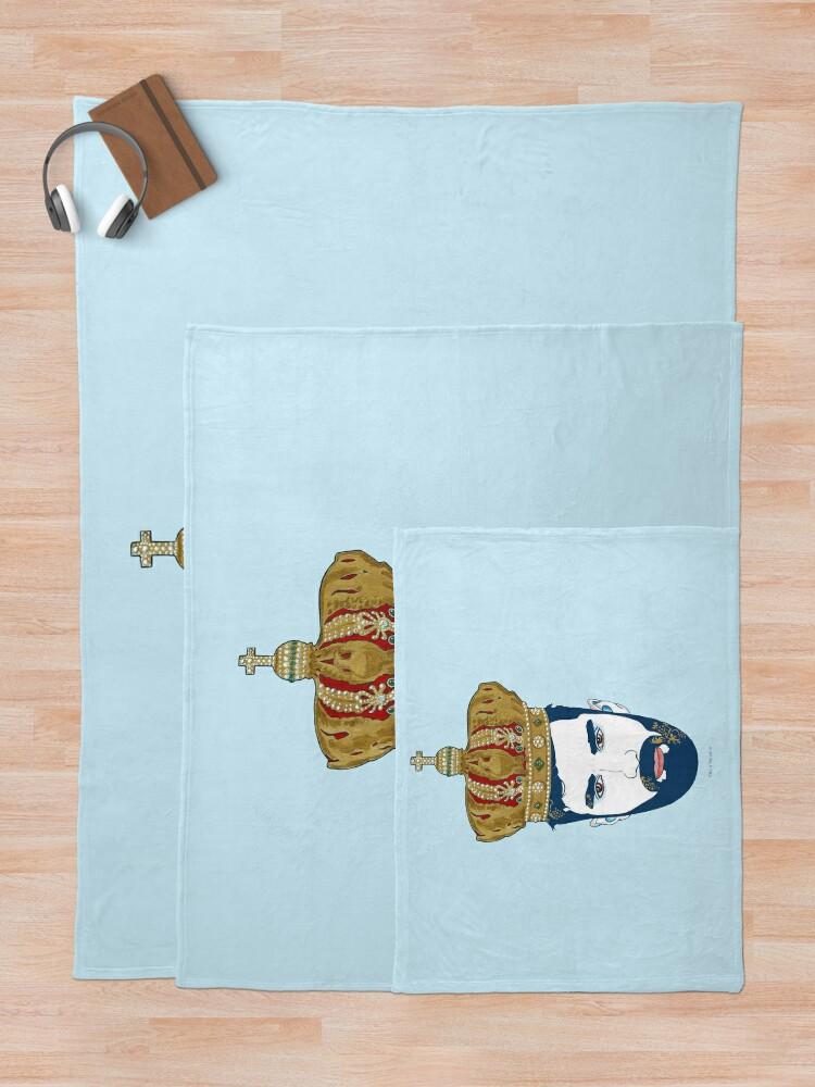 Alternate view of kING Throw Blanket