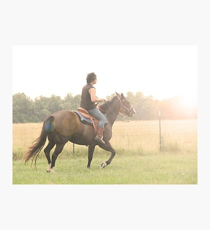 his free spirit rides the wind into his fate Photographic Print