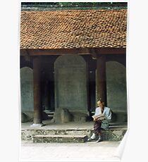 Scholarly Man, Temple of Literature, Hanoi, Vietnam Poster