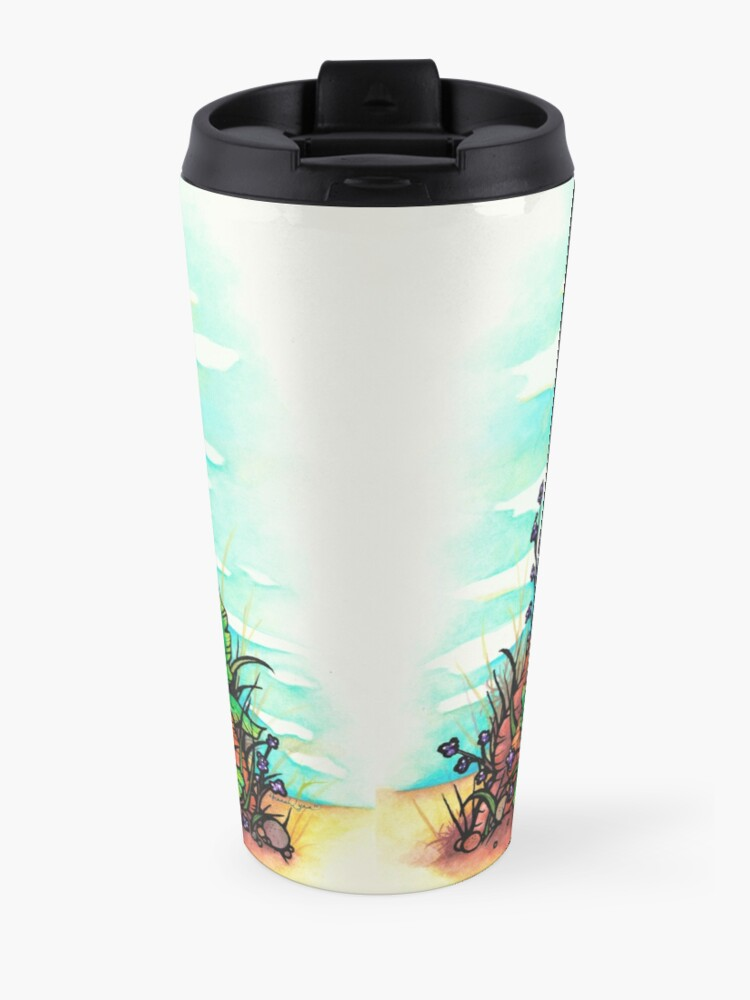 Alternate view of Aussie Girl with Kangaroo and Koala Bear Australia Art by Hannah Lynn Travel Mug