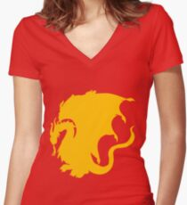 Pendragon Tee Women's Fitted V-Neck T-Shirt