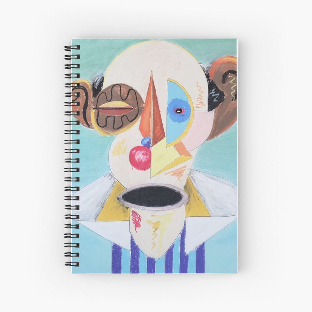Untitled Cubism Portrait Spiral Notebook