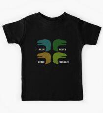 Blau, Delta, Echo, Charlie Kinder T-Shirt