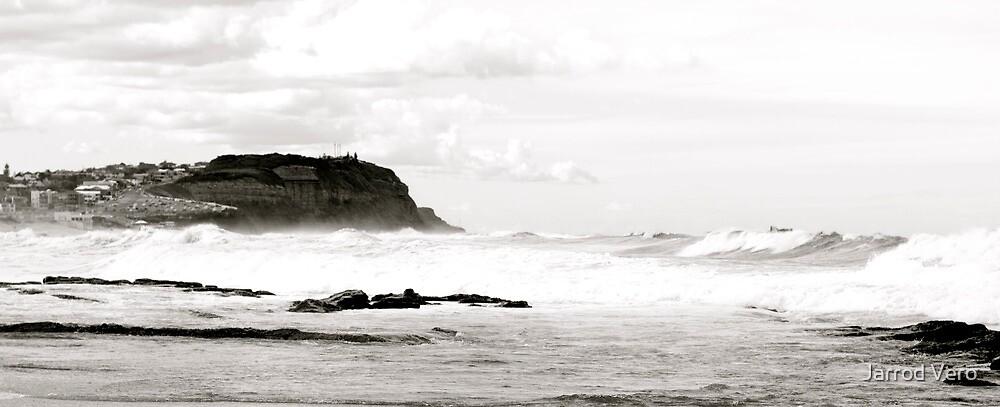 White Surf At Bar Beach by Jarrod Vero