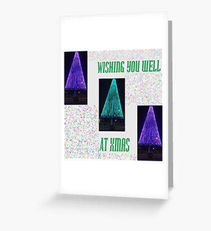 Well Lit Merry Xmas Greeting Card