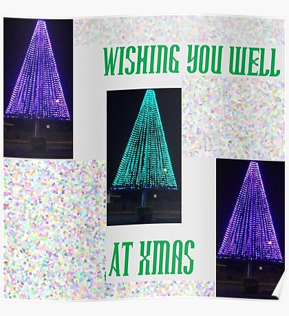 Well Lit Merry Xmas Poster