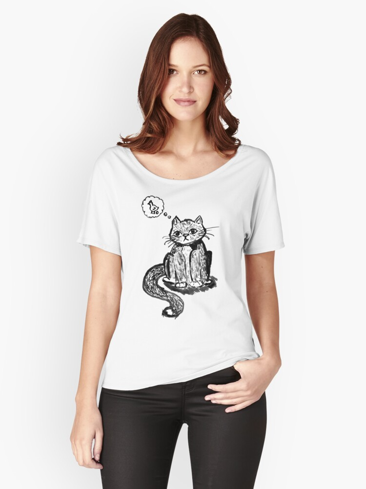 Ink Cat Women's Relaxed Fit T-Shirt Front