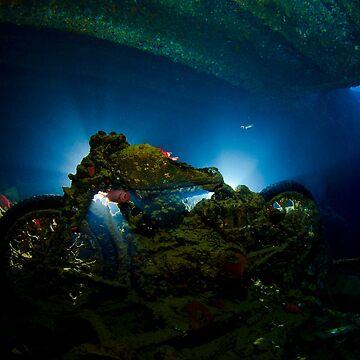 Underwater Motorbike by underwaterart
