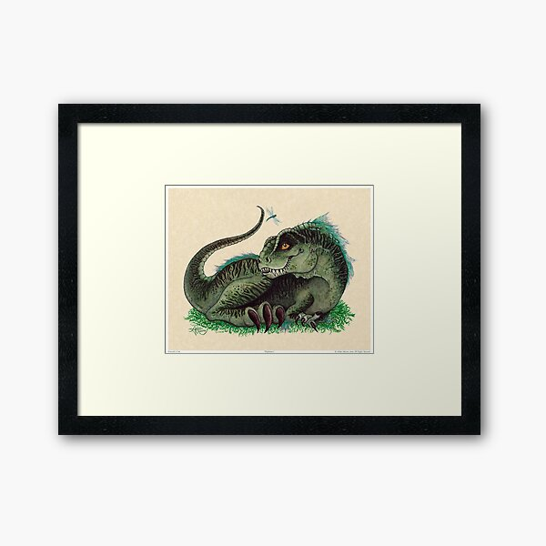 """""""Pinfeathers"""" by Amber Marine ~ Watercolor & Ink (Copyright 2016) Framed Art Print"""