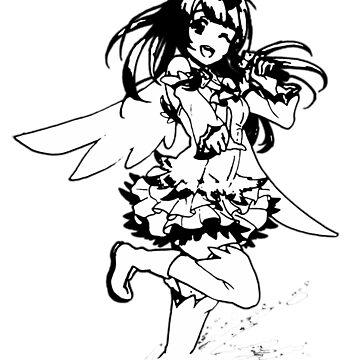 Minami Kotori (Black & White) by skeexu