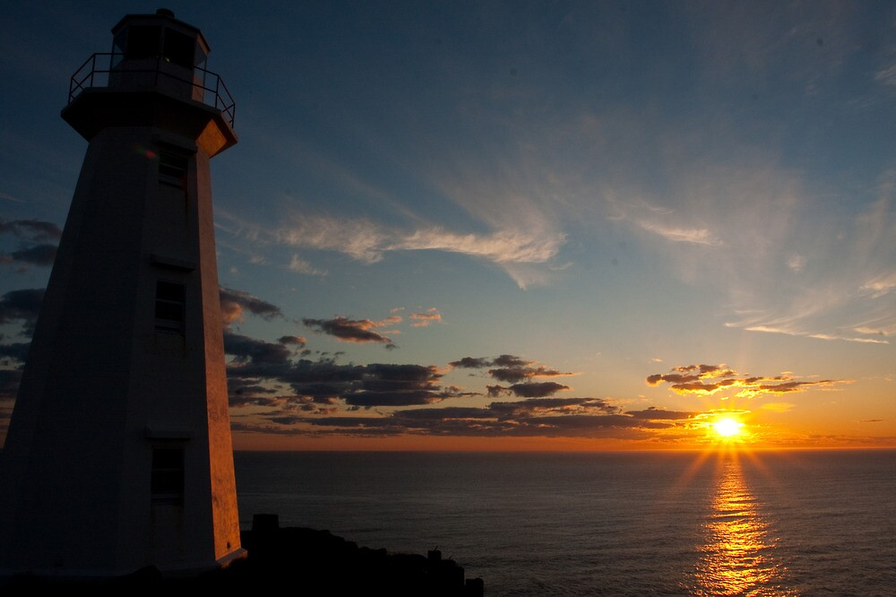 Quot Sunrise Lighthouse Cape Spear Nfld Quot By Benjamin Brauer